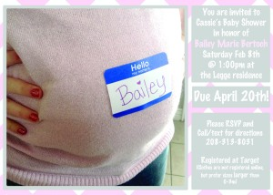 Baby Shower Invite Front